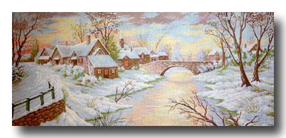 Paesaggio invernale mezzo punto mezzo punto punto croce for Paesaggio invernale disegno