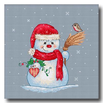 pupazo di neve punto croce