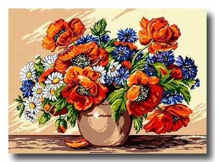 Vaso con fiori di campo
