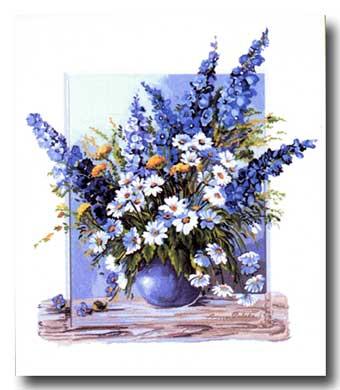 Vaso con fiori di campo mezzo punto punto croce gobelin for Vaso di fiori disegno