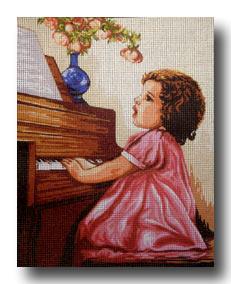 bimba al pianoforte mezzo punto