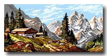 paesaggio di montagna mezzo punto