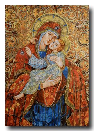 madonna con bambino mezzopunto